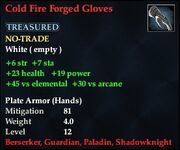 Cold Fire Forged Gloves