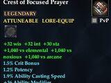 Crest of Focused Prayer (Level 60)
