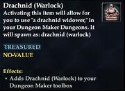 Drachnid (Warlock)