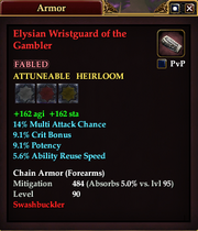 Elysian Wristguard of the Gambler