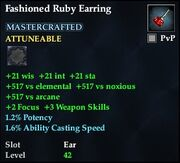 Fashioned Ruby Earring