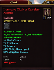 Ironweave Cloak of Ceaseless Assault