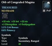 Orb of Congealed Magma