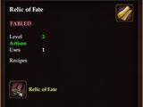 Relic of Fate (Recipe Book)