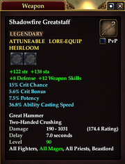 Shadowfire Greatstaff