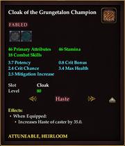 Cloak of the Grungetalon Champion