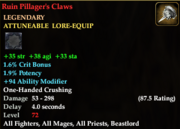 Ruin Pillager's Claws