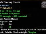 Z'ral's Fencing Gloves (Level 64)