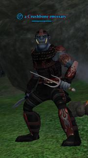 A Crushbone emissary (Greater Faydark)