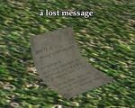 A lost message