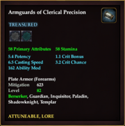 Armguards of Clerical Precision