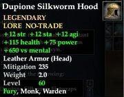 Dupione Silkworm Hood