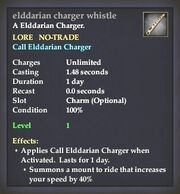Elddarian charger whistle