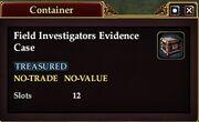 Field Investigator's Evidence Case