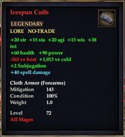 Icespun Cuffs