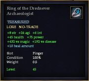 Ring of the Drednever Archaeologist
