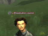 A Bloodsaber courier