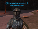 A cackling cannoneer