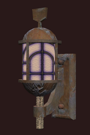 A pristine bronze sconce (Visible)
