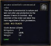 Arcane scientist's ceremonial robe