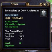 Breastplate of Dark Arbitration