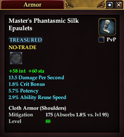 Master's Phantasmic Silk Epaulets