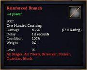 Reinforced Branch