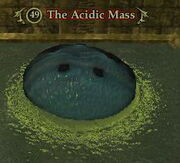 The acidic mass