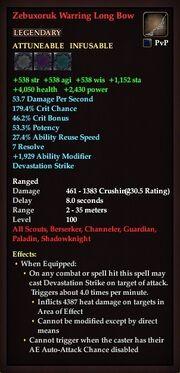Zebuxoruk Warring Long Bow
