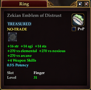 Zekian Emblem of Distrust