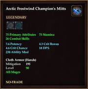 Arctic Frostwind Champion's Mitts