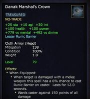 Danak marshal's crown