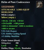 Helm of Pure Coalescence