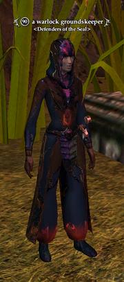 A warlock groundskeeper