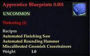 Apprentice Blueprints 0.001