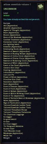 Artisan essentials volume 7
