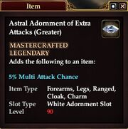Astral Adornment of Extra Attacks (Greater)