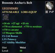 Brownie Archer's Belt