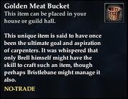 Golden Meat Bucket