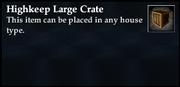 Highkeep Large Crate