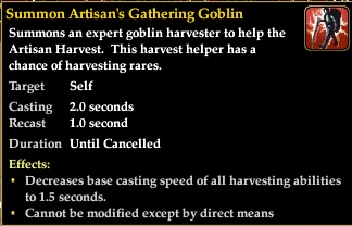 Summon gathering goblin AFTER KA Buff only