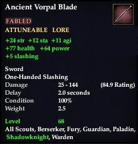 Ancient Vorpal Blade | EverQuest 2 Wiki | FANDOM powered by