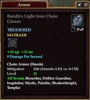Bandit's Light Iron Chain Gloves