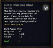 Dismal ceremonial officer tonlets