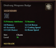 Drolvarg Weapons Badge