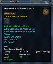 Frostwind Champion's Staff