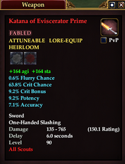 Katana of Eviscerator Prime