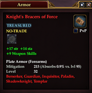 Knight's Bracers of Force