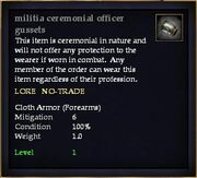 Militia ceremonial officer gussets