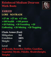 Reinforced Medium Dwarven Work Boots